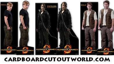 all hunger games cardboard standee cutouts