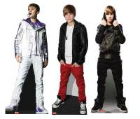 justin bieber stand up cut outs