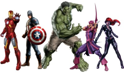 avengers cardbouts standup posters